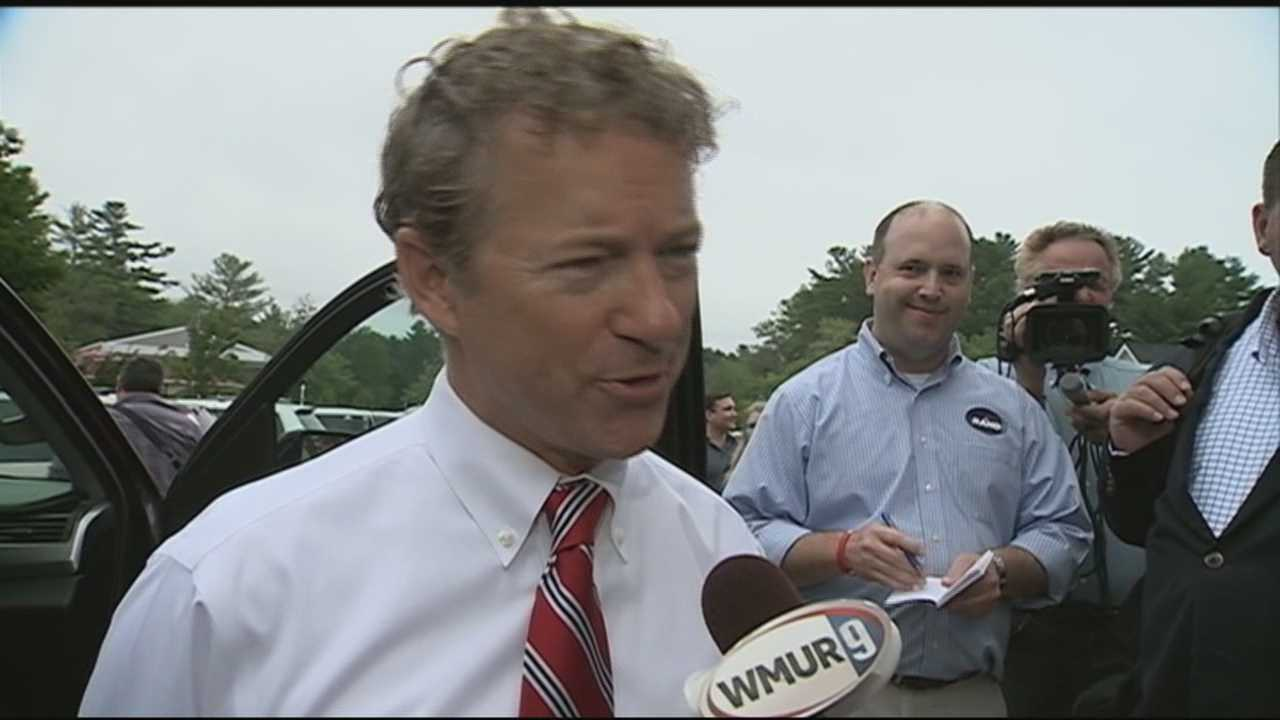 Kentucky Sen. Rand Paul visited five New Hampshire counties, ending his swing through the state at MaryAnn's diner in Windham.