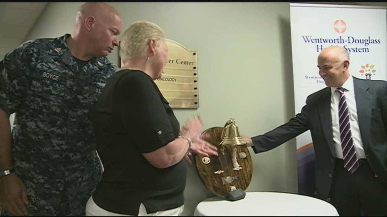 Bells have a long tradition in the Navy and have become a tradition in cancer treatment as well, marking a milestone in a patient's long journey.