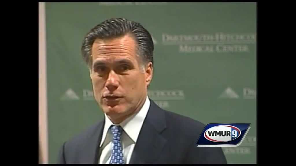 Before the phrase 'individual mandate' was in the national lexicon, Mitt Romney speaks to a group of medical professionals about his efforts toward universal healthcare while he was serving as Massachusetts Gov.