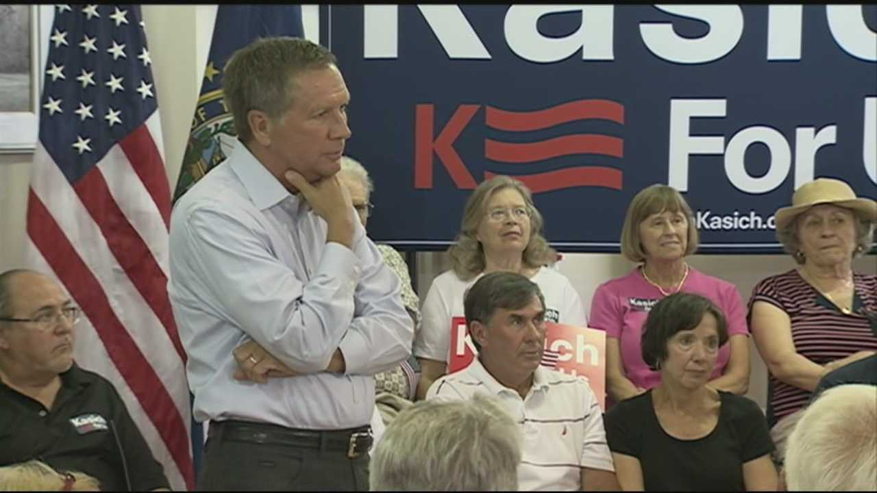 Ohio Gov. John Kasich, one of the latest Republicans to announce his bid for the presidency, held a packed town hall meeting Friday in Keene.