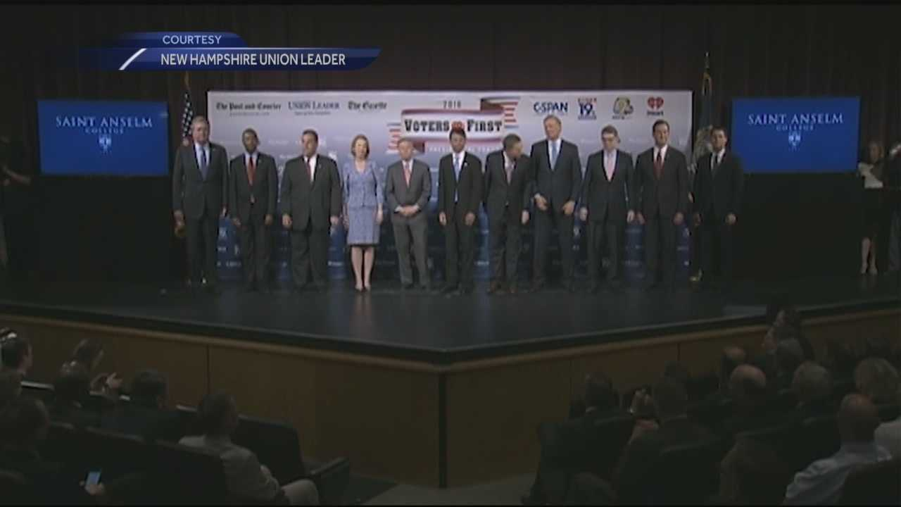 Fourteen Republican presidential candidates laid out their conservative plans for reforming immigration, cutting the federal deficit, repealing the Affordable Care Act and getting tough on Islamic terrorism at Saint Anselm College on Monday night.