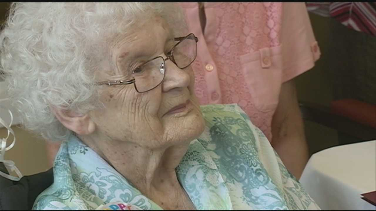 Manchester woman celebrated her 104th birthday. Mayor Ted Gatsas honored her with a proclamation.