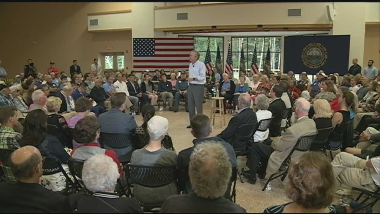 A day after going toe-to-toe with his fellow GOP hopefuls, former Florida Gov. Jeb Bush is back in the Granite State.