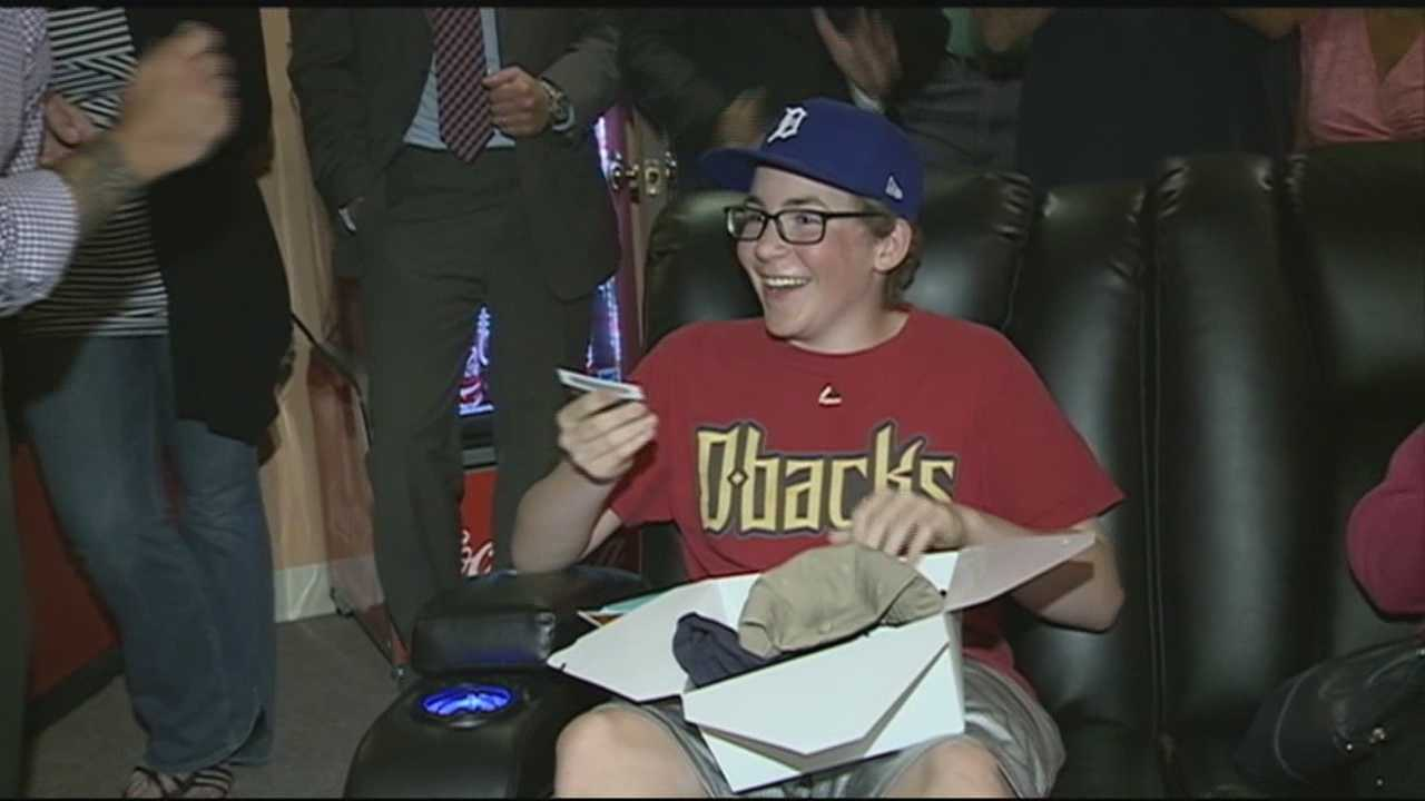A Manchester teenager who survived cancer had his wish granted for the man cave of his dreams Sunday thanks to the New Hampshire Make-A-Wish Foundation.