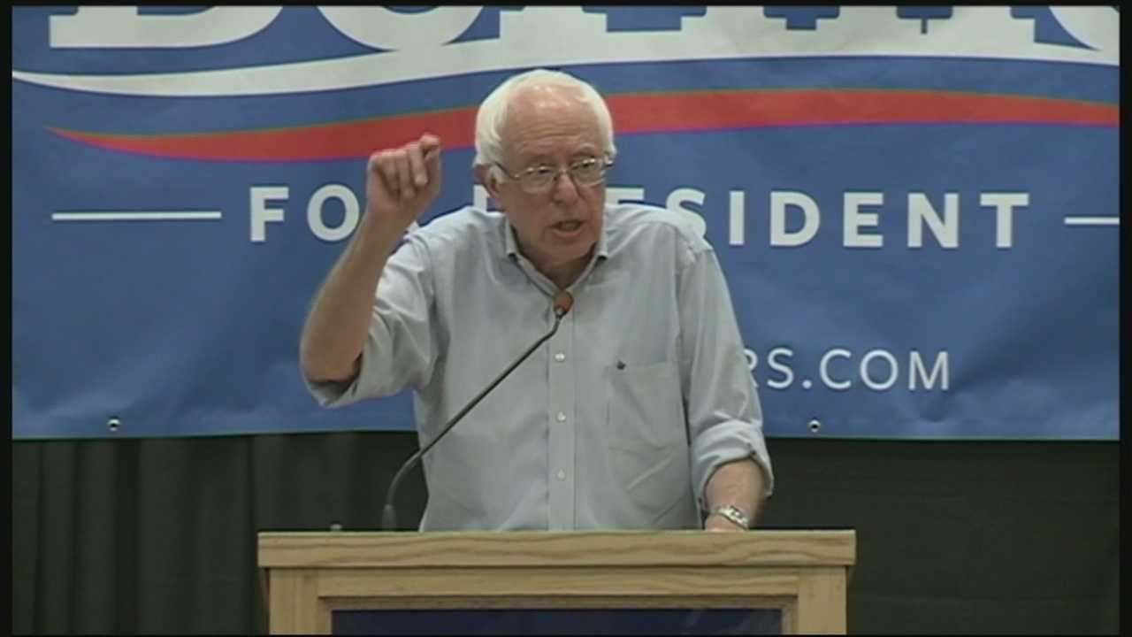 A new poll released Tuesday night shows Vermont Senator Bernie Sanders leading Hillary Clinton in the Granite State. WMUR's Adam Sexton reports.