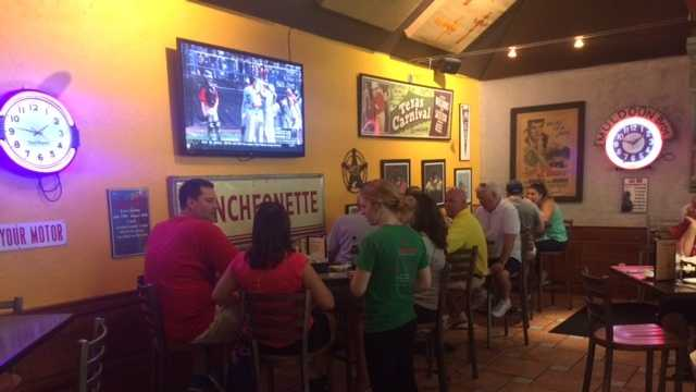 Shorty's Mexican Roadhouse was packed Sunday as Bedford Little League fans of all ages watched their hometown team play on television.