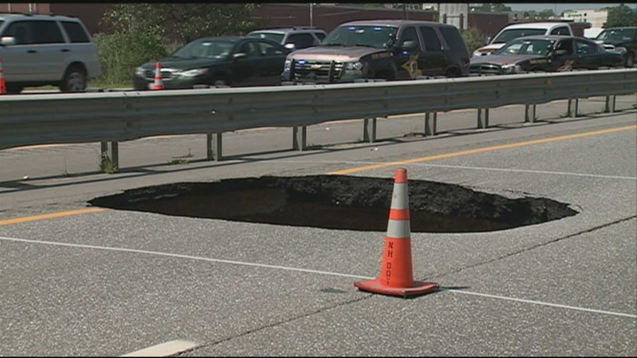 Interstate 93 is open to traffic after a large sinkhole shut down a section of the northbound side for several hours yesterday. Ray Brewer has the latest on the repairs.