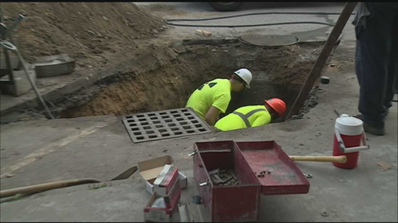 Concord officials are scrambling to prevent a flood after work to prevent another sinkhole from forming on Interstate 93.