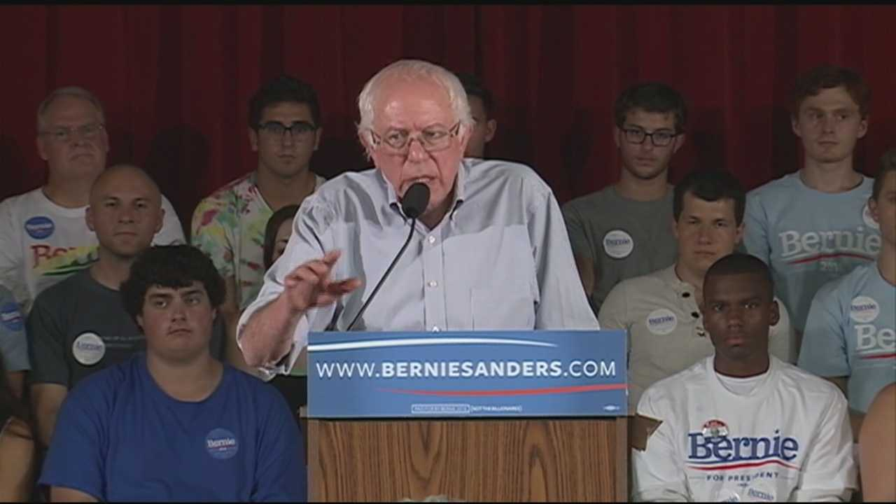 Vermont Sen. Bernie Sanders, the progressive firebrand who is riling up Democratic crowds across the country, is back in New Hampshire for a two-day campaign swing.