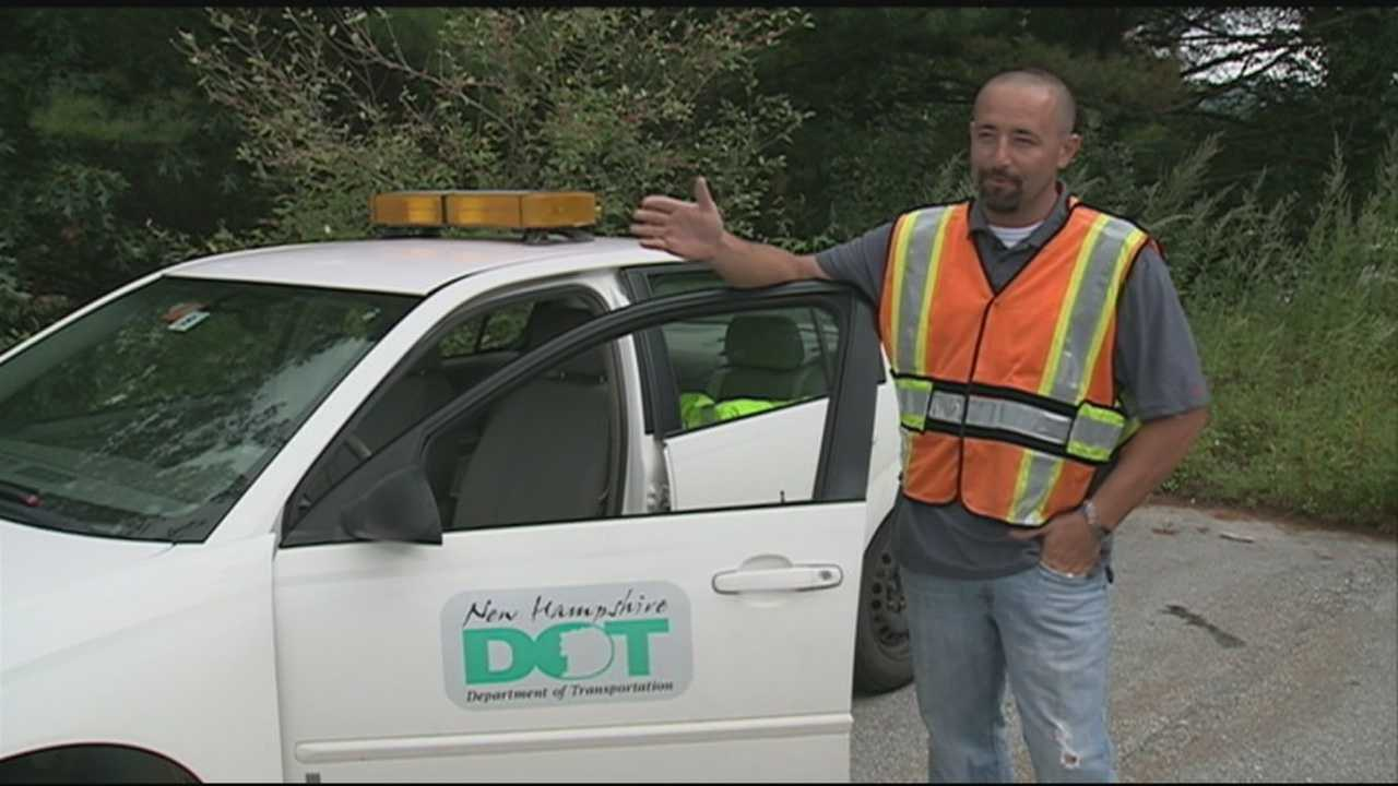 The Department of Transportation worker who spotted a sinkhole on Interstate 93 last week right before the road gave way said he was in the right place at the right time.