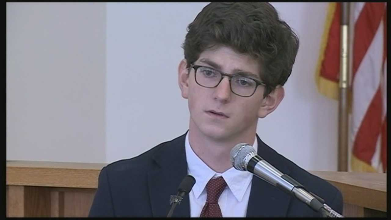 A prep school graduate accused of raping a freshman days before graduation took the stand in his own defense Wednesday.