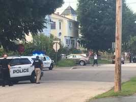 The SWAT team was called to a Manchester home Wednesday after a suspected gun thief refused to surrender, police said.