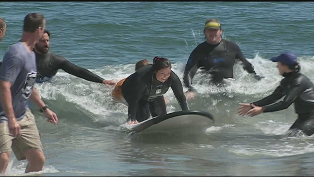 Wounded veterans from all branches of the military experienced the joy of surfing Friday and the confidence it can inspire.