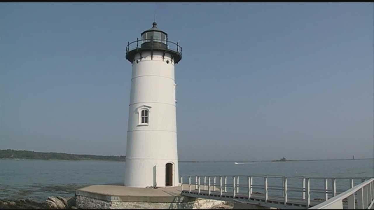 Meteorologist Mike Haddad is in New Castle, visiting the Portsmouth Harbor Lighthouse.