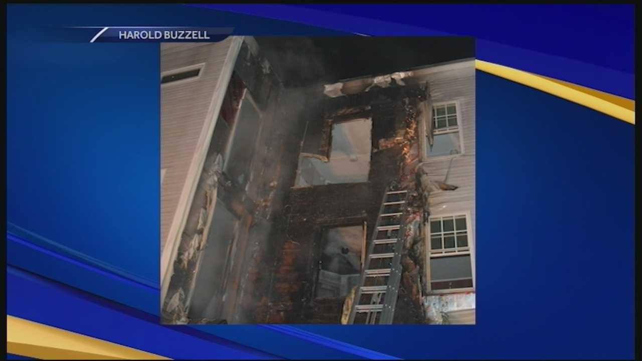 An investigation is underway in Portsmouth into a fire at a vacant apartment building.