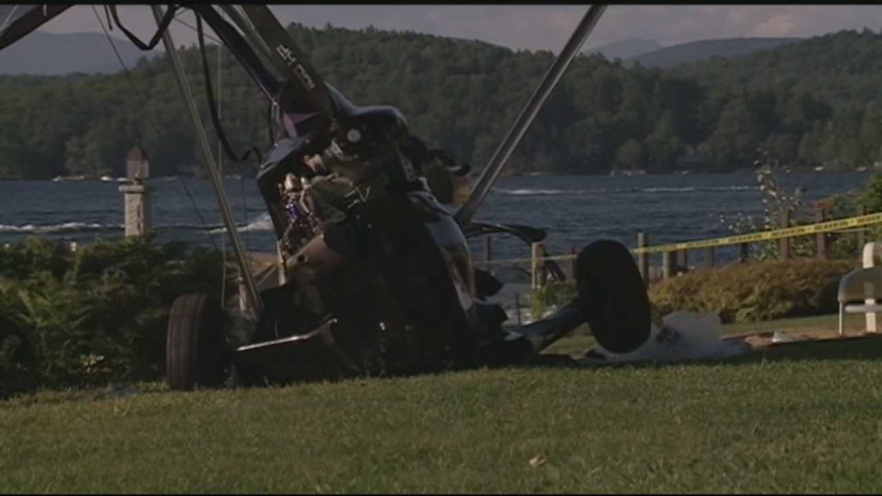 A pilot was airlifted to the hospital in critical condition after the ultralight plane he was piloting crashed in Laconia Saturday.
