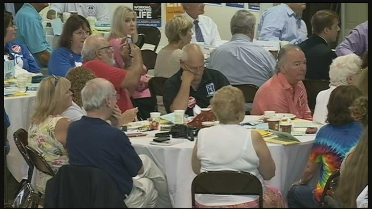 Union leaders and local Democrats gathered in Manchester on Labor Day. WMUR's Ray Brewer reports.