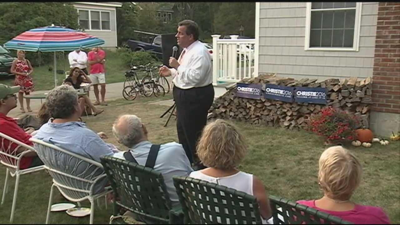 New Jersey Gov. Chris Christie was in the Granite State on Tuesday. He spoke a barbecue hosted by Former U.S. Sen. Scott Brown.