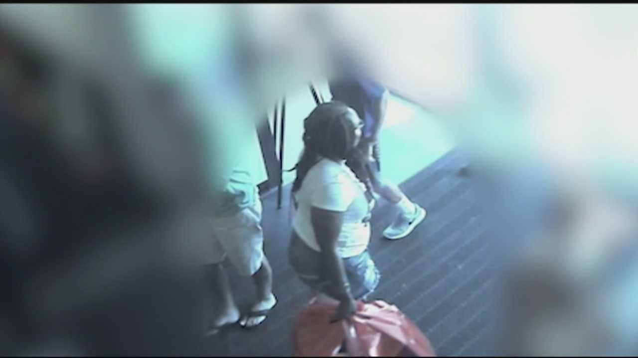 Merrimack police are asking for the public's help to identify six people they said stole thousands of dollars' worth of shoes and clothes and then falsely reported that a child was missing.