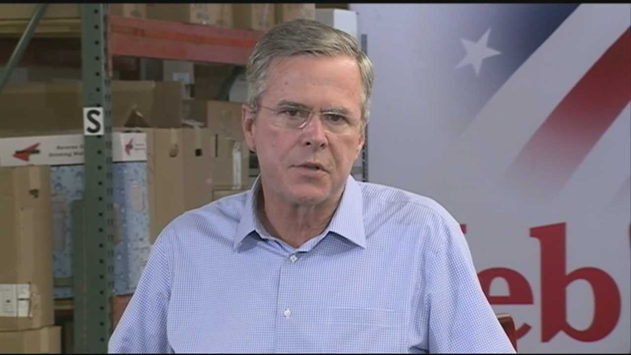 Former Florida Gov. Jeb Bush visited New Hampshire on Thursday, a day after unveiling a tax plan with a few nontraditional twists.