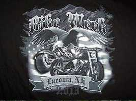 One Facebook fan named Kim sent us this photo of a Laconia Motorcycle Week T-shirt she has in her closet.
