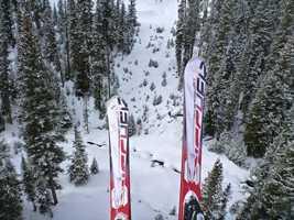 Skis to take advantage of that fresh powder.