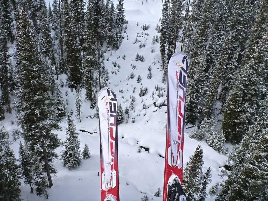 Skis to take advantage of that fresh powder.