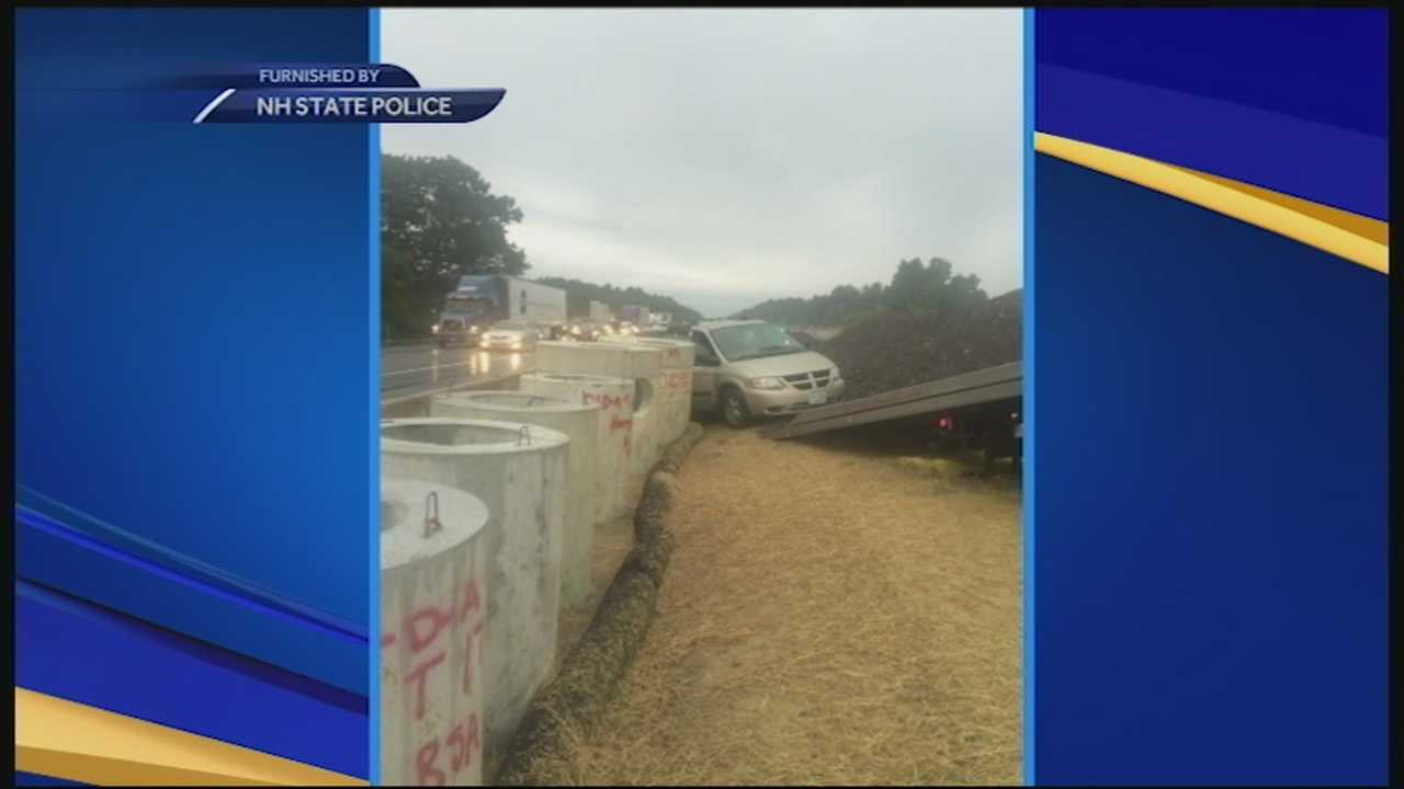 State Police are investigating a crash in Hampton yesterday after a van ended up in a construction site. They said the drivers were on drugs.