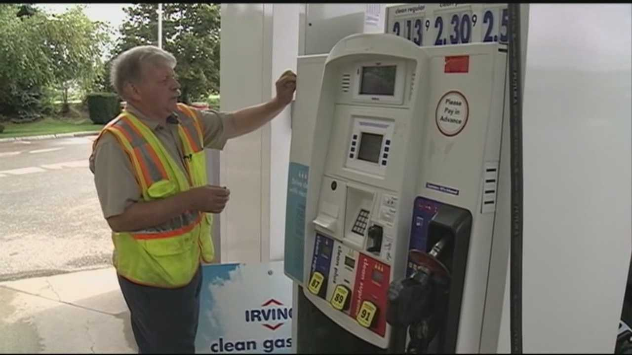 Drivers who filled up at an Irving gas station in Tilton are being asked to check their credit card statements after a technician found a credit card skimming device on one of the pumps.