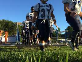 The Hollis-Brookline Cavaliers took on the Milford Spartans at home on Friday night.