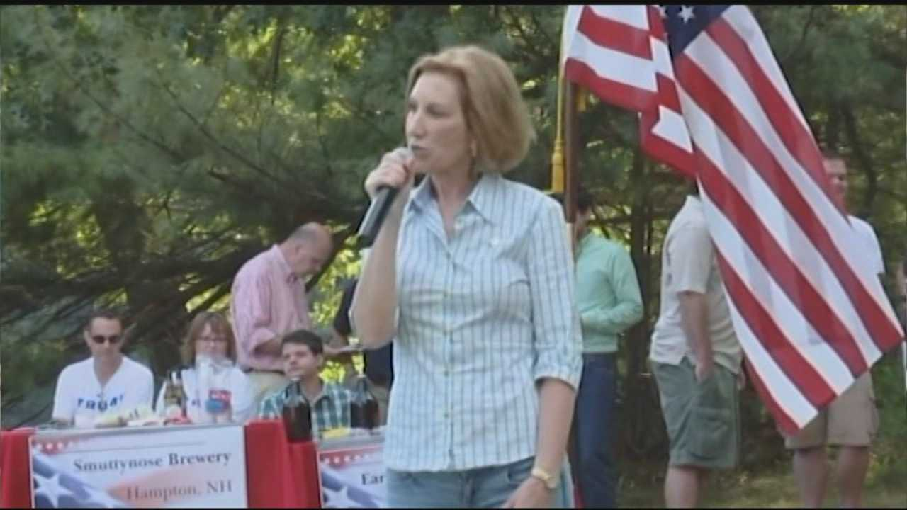 Carly Fiorina stops in Stratham and Dover to speak to voters.