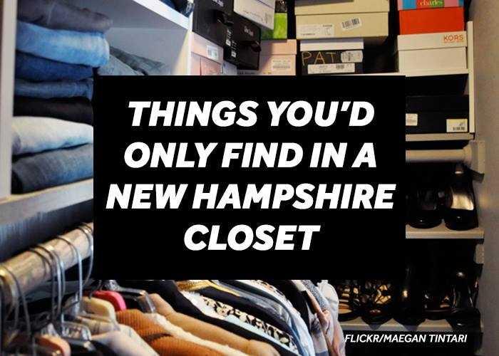 What's in your closet? We recently asked our viewers to tell us about items inside their closets that might be considered unique to a New Hampshire home. Here are some of their responses.
