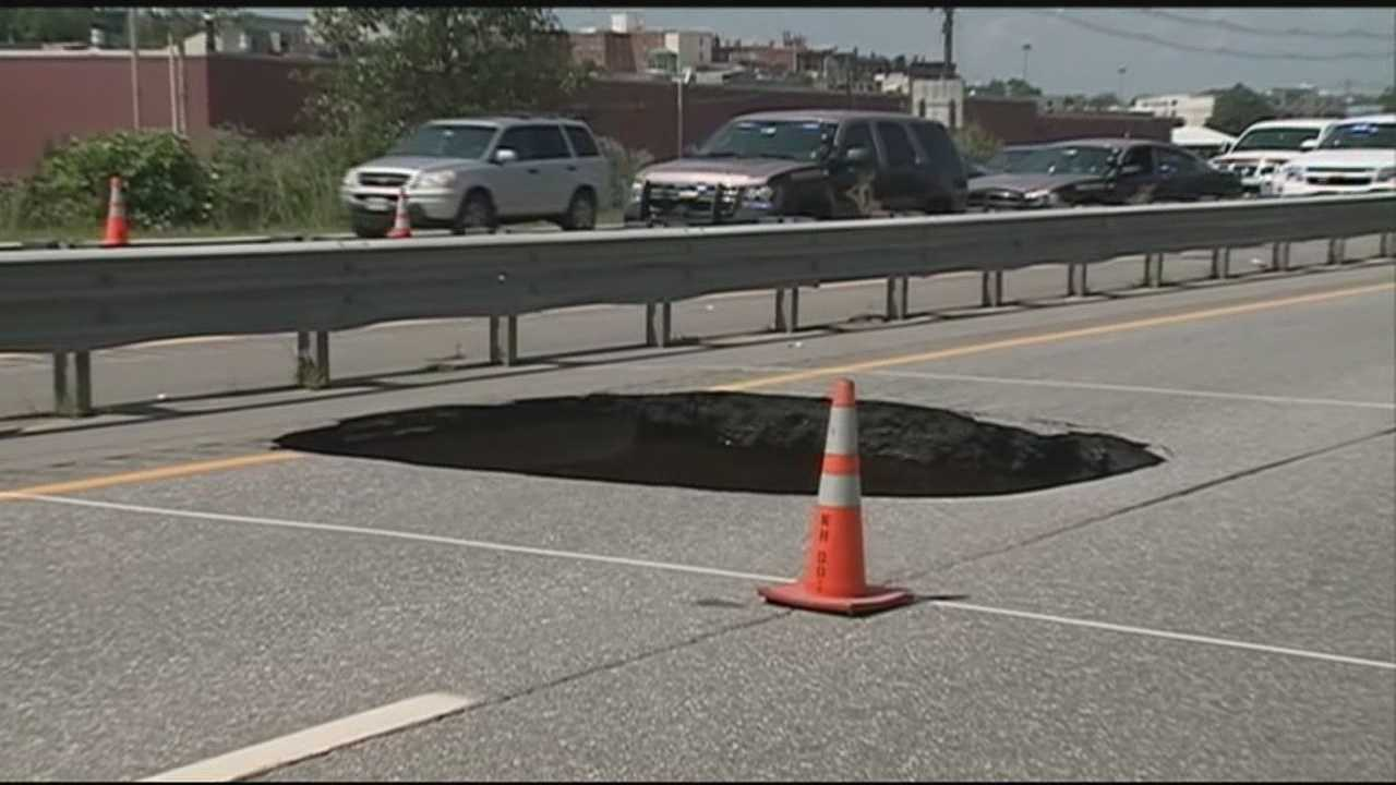 As repair work wraps up on a 10-foot sinkhole that opened up on Interstate 93 last month, officials said the cost has reached more than $200,000.