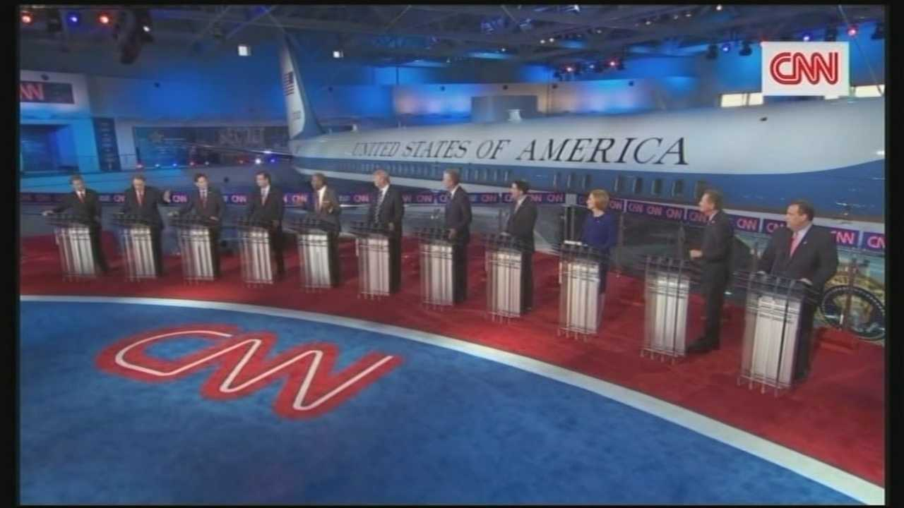 Amid the back-and-forth bickering over Donald Trump, the Republican presidential contest took a substantive and serious turn in Wednesday's prime-time debate, with candidates wrangling over immigration, gay marriage and foreign affairs.