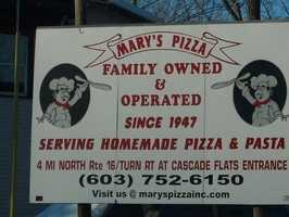 5. Mary's Pizza in Gorham
