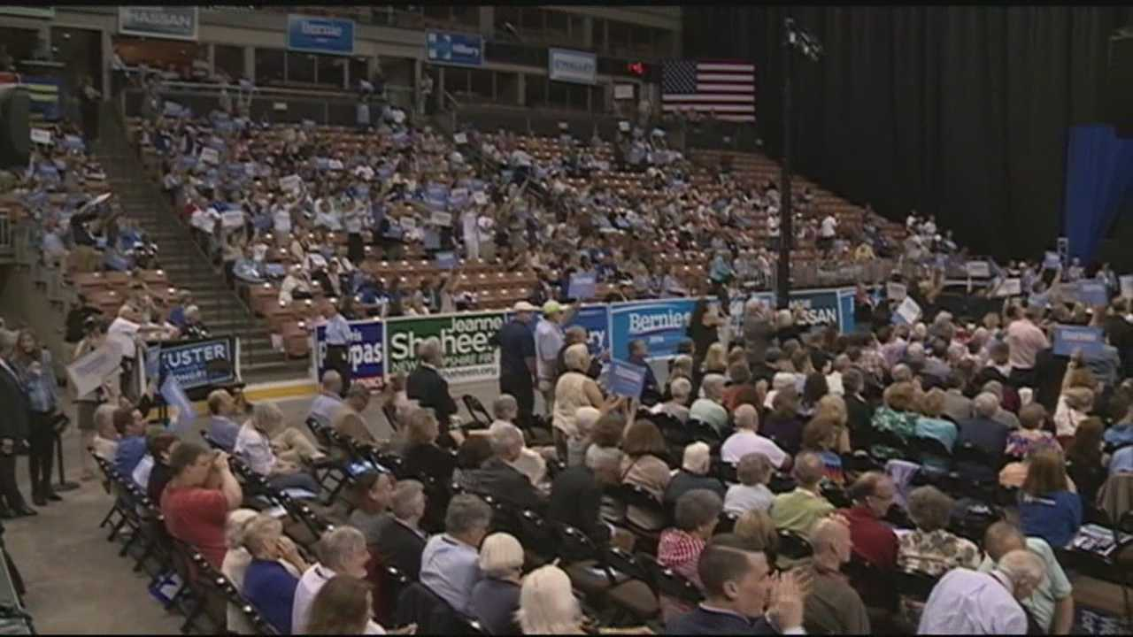 Fired up by the cheers, chants and thunderous applause of their frenzied supporters, Hillary Clinton and Bernie Sanders vied for the hearts and minds of more than 4,000 Democrats Saturday at the New Hampshire Democratic Party's biggest convention ever.