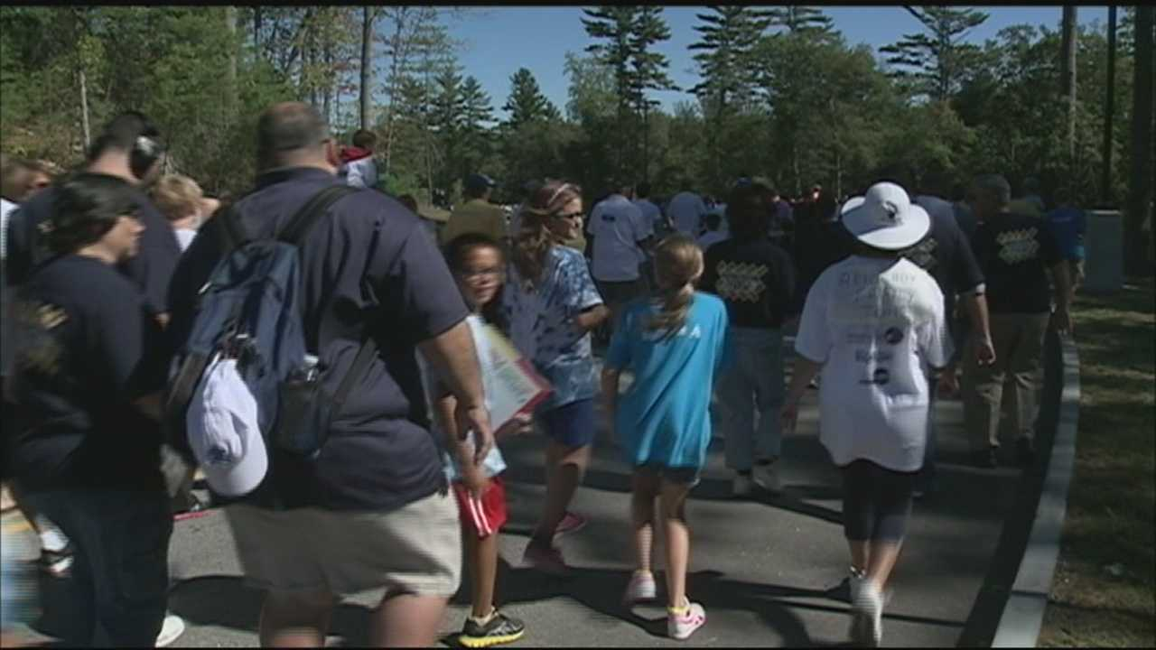 Hundreds of people laced up their sneakers and walked for autism awareness Sunday in Manchester.