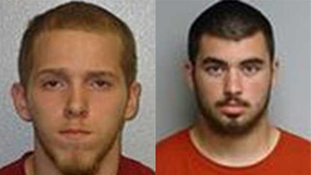 Nathan Fortier, 19, of Pembroke (left) and Ronald Fitzwater, 18, of Manchester (right)