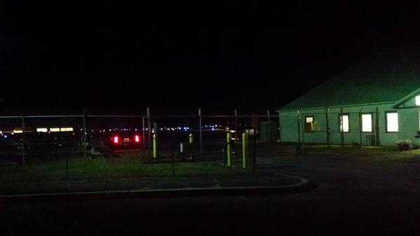 Jeff Gordon's plane lands at Concord Municipal Airport.