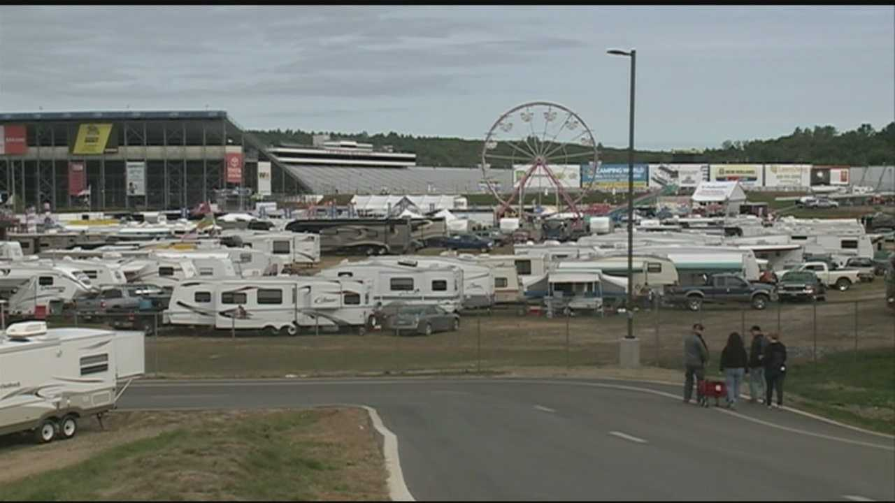 More than 100,000 race fans are expected to head to Loudon for the NASCAR race on Sunday, but tens of thousands of fans are already at the track.