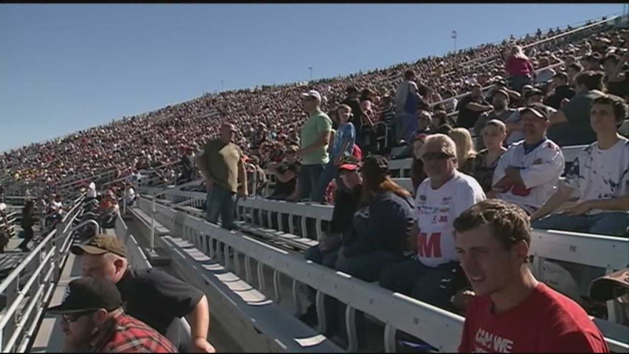 Tens of thousands of fans raced to New Hampshire Motor Speedway on Sunday afternoon for the Sylvania 300.