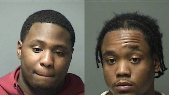 Michael Irving (left) and Rayshawn Wallace (right) were arrested in Manchester and charged with sale of a controlled drug.