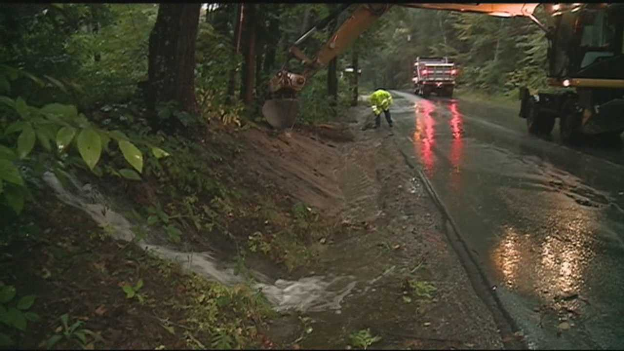 Steady rain raised the threat of flooding in smaller rivers and streams in parts of the state Wednesday.