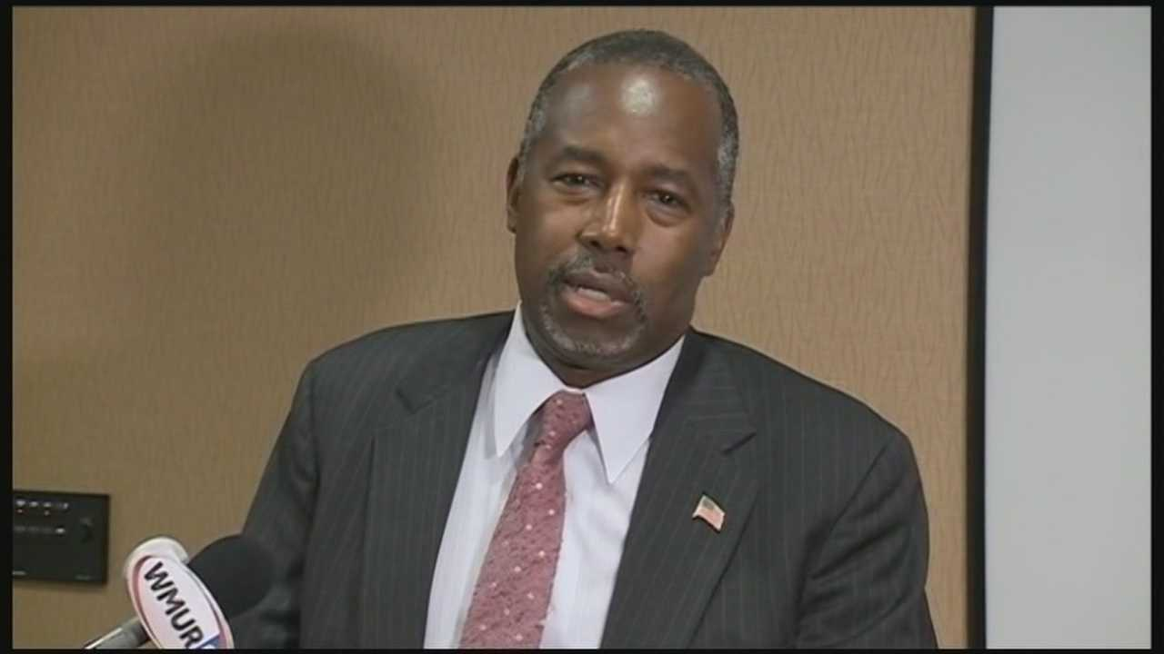 Republican presidential candidate Ben Carson campaigned Wednesday on the Seacoast, holding two town hall events.