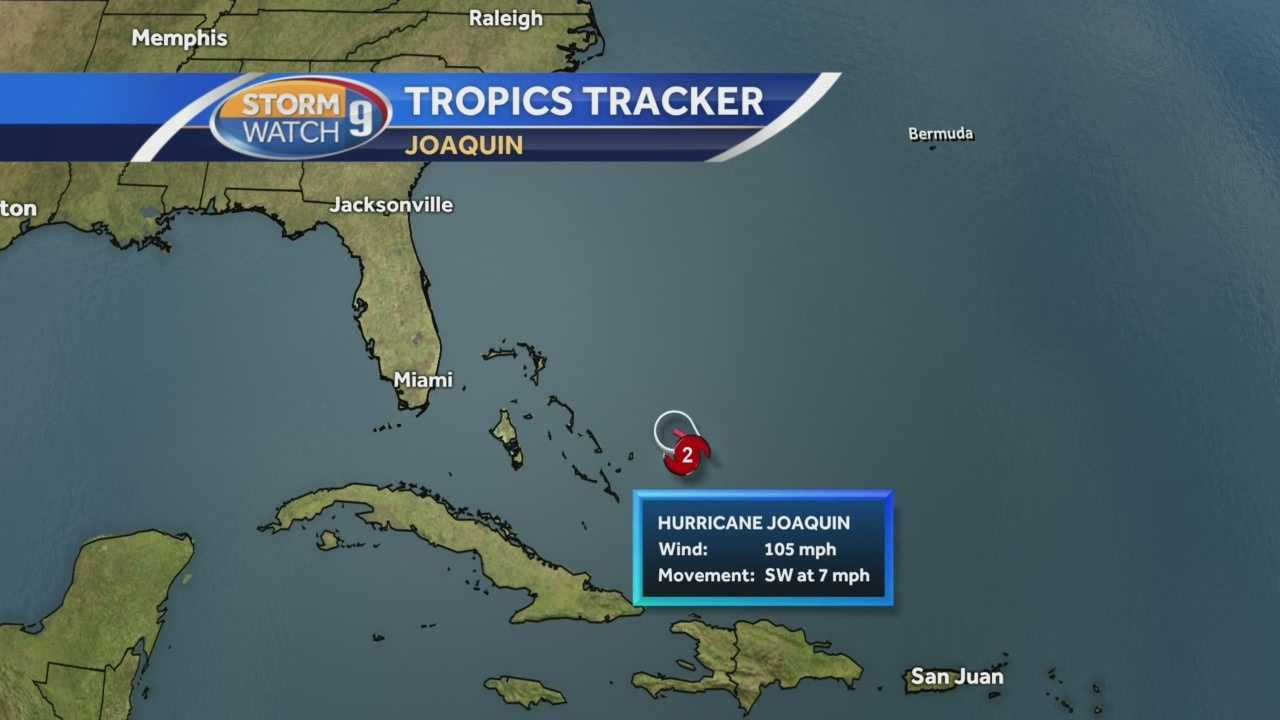 Chief Meteorologist Mike Haddad has the latest track of Hurricane Joaquin
