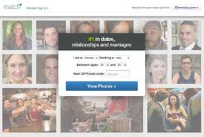 The match-making site Match.com went live in early 1995.
