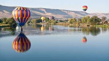 On Feb. 21, 1995, Steve Fossett became the first person to make a solo flight across the Pacific Ocean in a hot air balloon, flying from South Korea to Canada.