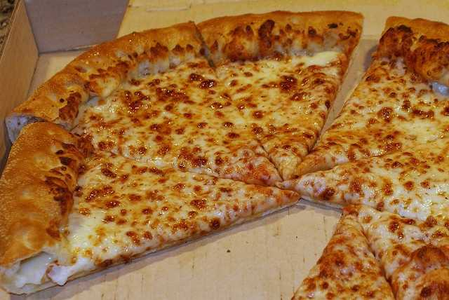 Pizza Hut's infamous stuffed crust pizza was introduced on March 26, 1995.