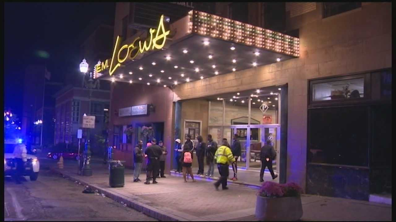 Five men were arrested and a college party night was shut down Friday night at the Palladium in Worcester, Massachusetts, after police tried to disperse the crowd using pepper spray.
