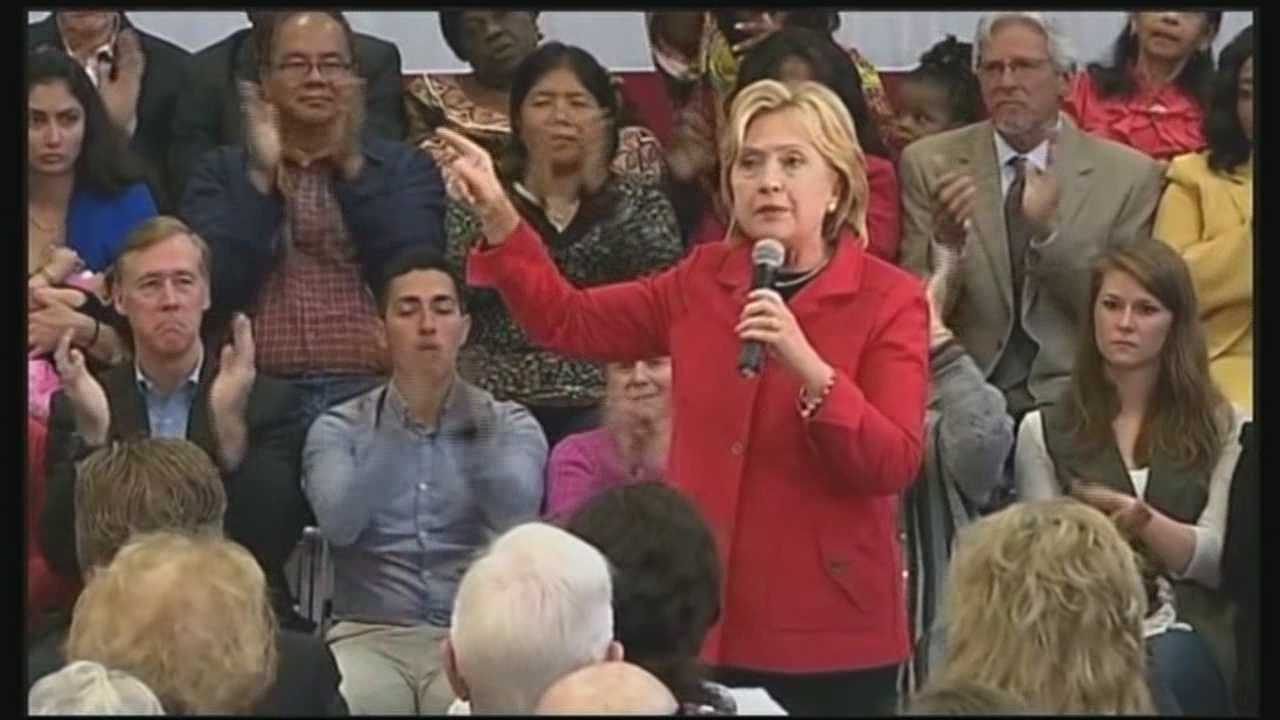 Democratic presidential candidate Hillary Clinton unveiled her gun violence prevention plan Monday at a campaign stop in Manchester.